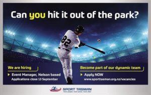 Sport Tasman Events Manager